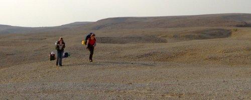 Ein Hike in der Wüste