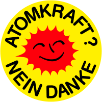 Das Logo der Anti-Atom-Bewegung