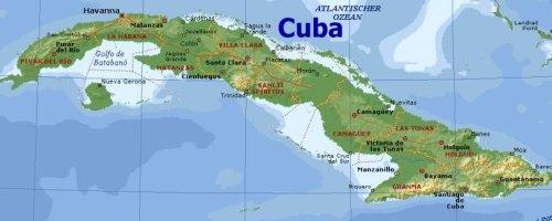 Landkarte von Cuba