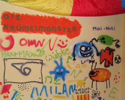 Wandbemalung der Krümelmonster