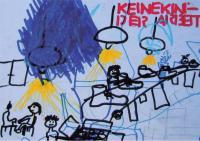 Falken-Kindergruppe Postkarte, Vorderseite