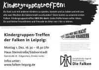 Falken-Kindergruppe Postkarte, Rückseite